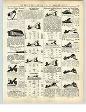 1938 PAPER AD 5 PG Stanley Tools Plane Parts Repair Diagram Price List