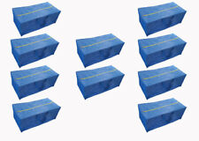 Super 10 Pack Zippered Storage Bags, XL Compatible with IKEA Frakta Trolley Blue