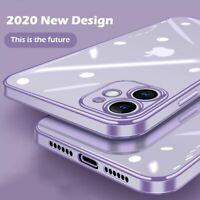 Square Plating Frame Clear Soft Case Cover For iPhone 11 Pro Max 12 XS XR X 8 7