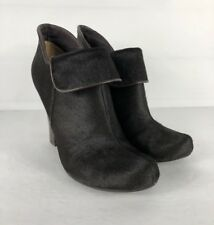 Fossil Ankle Boots Booties Sz 7.5 Calfskin Leather Side Zip