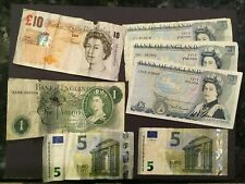 GREAT BRITAIN AND EUROS  --  26 Pounds and 10 Euros