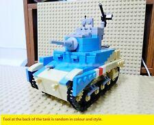WWII US British UK M3 M3A1 Stuart Light Tank World War 2 II WW2 USA MOC Blue