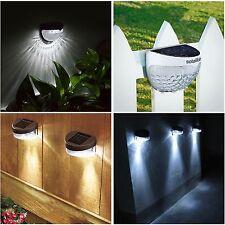 SOLAR POWERED FENCE LIGHTS WALL DOOR STEP SMD LED LIGHT OUTDOOR GARDEN  LIGHTING
