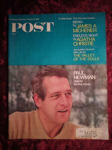 Saturday Evening POST February 24 1968 PAUL NEWMAN JACQUELINE SUSANN