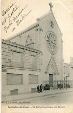 Carte PARIS Eglise Apostolique Rue Bonvin