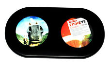 Lomo Fisheye Bilderrahmen schwarz für 2 runde Fotos 9,5cm Durchmesser (NEU/OVP)
