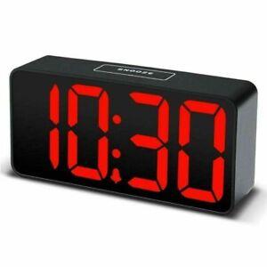 Acctim Phoenix USB Powered Red LED Black Case Digital Alarm Clock 15343