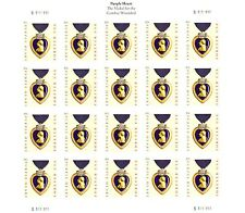 MILITARY PURPLE HEART MEDAL STAMP SHEET -- USA #4529  FOREVER 2011