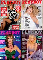 PLAYBOY Lot of 4-May thru August 1986-Kathleen Turner,Jackie Gleason,Tom Cruise