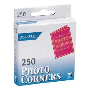 250 Photo Corners Transparent Acid Free Same Day Dispatch PC250