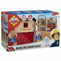 Fireman Sam Deluxe Rescue Fire Station Portable Carry Playset Toy Gift