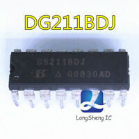 5PCS DG211BDJ Encapsulation:DIP-16,Improved Quad CMOS Analog Switches new