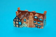 More details for x18 handmade & painted devonmoor collectable ceramic william pitts cottage brown