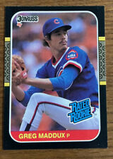 1987 DONRUSS #36 GREG MADDUX RC RATED ROOKIE HALL OF FAME CUBS BRAVES cb
