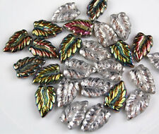 LEAF CRYSTAL VITRAIL HALF COAT PRESSED LOOSE JEWELRY MAKING GLASS BEADS CRAFT 25