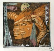 Blam, Gabriele: Original Farbradierung von 1987