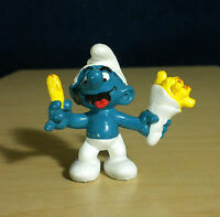 Smurfs 20131 French Fry Smurf Bag of Fries Vintage Figure PVC Toy 1980s Figurine