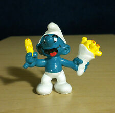 Smurfs French Fry Smurf Bag of Fries Vintage Figure PVC Toy Figurine Peyo 20131