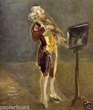 Der junge Mozart Kunstdruck von 1942 Franz Naager aus Zeitschift 3. Reich Geige