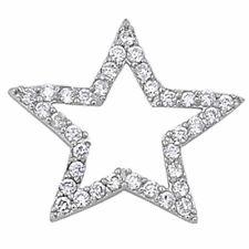 CZ STAR .925 Sterling Silver Pendant