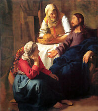 """Art Oil painting Johannes Vermeer - Christ in the House of Mary and Martha 36"""""""