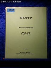 Sony Manual CDP 35 Abgleichanleitung  (#6393)
