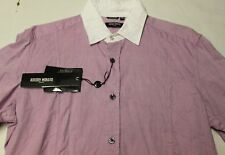 ANTONY MORATO ITALY Mens PURPLE LILAC WHITE COLLAR DRESS Shirt NWT 15 34 EUR 46