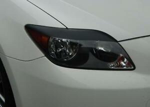 05-10 Scion tC pre-cut EYELID Headlight Overlays - Gloss Black
