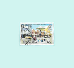 Bermuda 1979 20 Cents Police Centenary Postal Used stamp