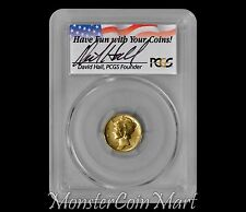 2016-W Gold Mercury Dime PCGS SP70 FS Hand Signed By David Hall Founder of PCGS