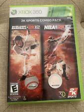 MLB 2K12 NBA 2K12 2K Sports Combo Pack (Microsoft Xbox 360, 2011) FREE SHIPPING