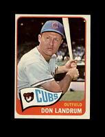 1965 Topps Baseball #596 Don Landrum SP (Cubs) EXMT