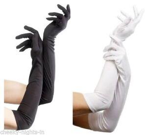 Ladies Long Elbow Evening Gloves Flapper 20s 30s Fancy Dress Opera Burlesque
