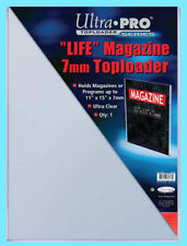 1 ULTRA PRO 11x15 7MM THICK LIFE MAGAZINE TOPLOADERS NEW Collectible Rigid Art