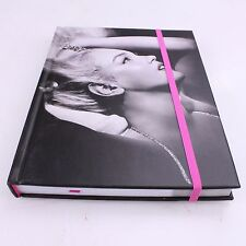 Marilyn Monroe Journal Hard Cover Hardback Pink Strap Glitter New Collectible