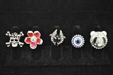 WHOLESALE LOT 5 PCS MIX COLLECTION COSTUME JEWELRY RINGS TU-21 US-SELLER