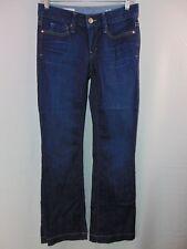 Gap 1969 Women's 24/00 R Long & Lean Blue Denim Jeans Casual Pants Flare Dark