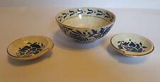 Charlotte Rhead Bursley Ware Bowl & Two Dishes