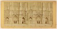 Germania Colonia La Cattedrale Ca 1870, Foto Stereo PL56L2n Vintage Albumina