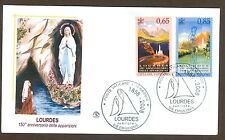 Vatican City Sc# 1388-9, Lourdes Apparitions, First Day Cover