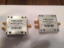 Qty. 2    Mini Circuit ZN2PD-9G-S+  Coaxial Power Splitter / Combiner