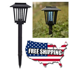 Solar Powered Led Lamp & Bug Zapper Mosquito Killer Insect Repeller Garden Decor