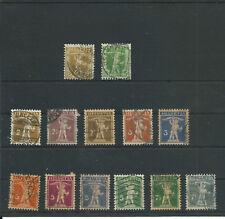 Schweiz, ab 1907, gestempelt, Lot, echt, ansehen!