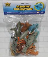 Wild Republic Polybag AQUATIC Animal Collection 11 Piece PVC Plastic Playset NEW