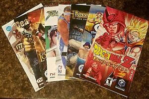 Nintendo GameCube & Wii Original Instruction Manuals *You Choose*