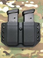 Black Kydex Dual Magazine Carrier for Glock 9mm .40 .357