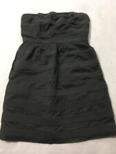 J Crew Womens 6 Ginny Strapless Textured Rugby Stripe Dress Pockets 100% Cotton