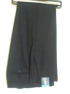Marks and Spencer Wool  Blend Tailored Fit  Navy Trousers
