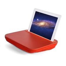 iTray Lap Desk iBed Red iPad Universal Tablet Microbead Cushion UK Seller