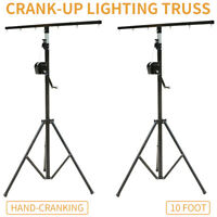 2× 10 FT Crank Up Triangle Truss Light Stand –  DJ Lighting Trussing Stage Mount